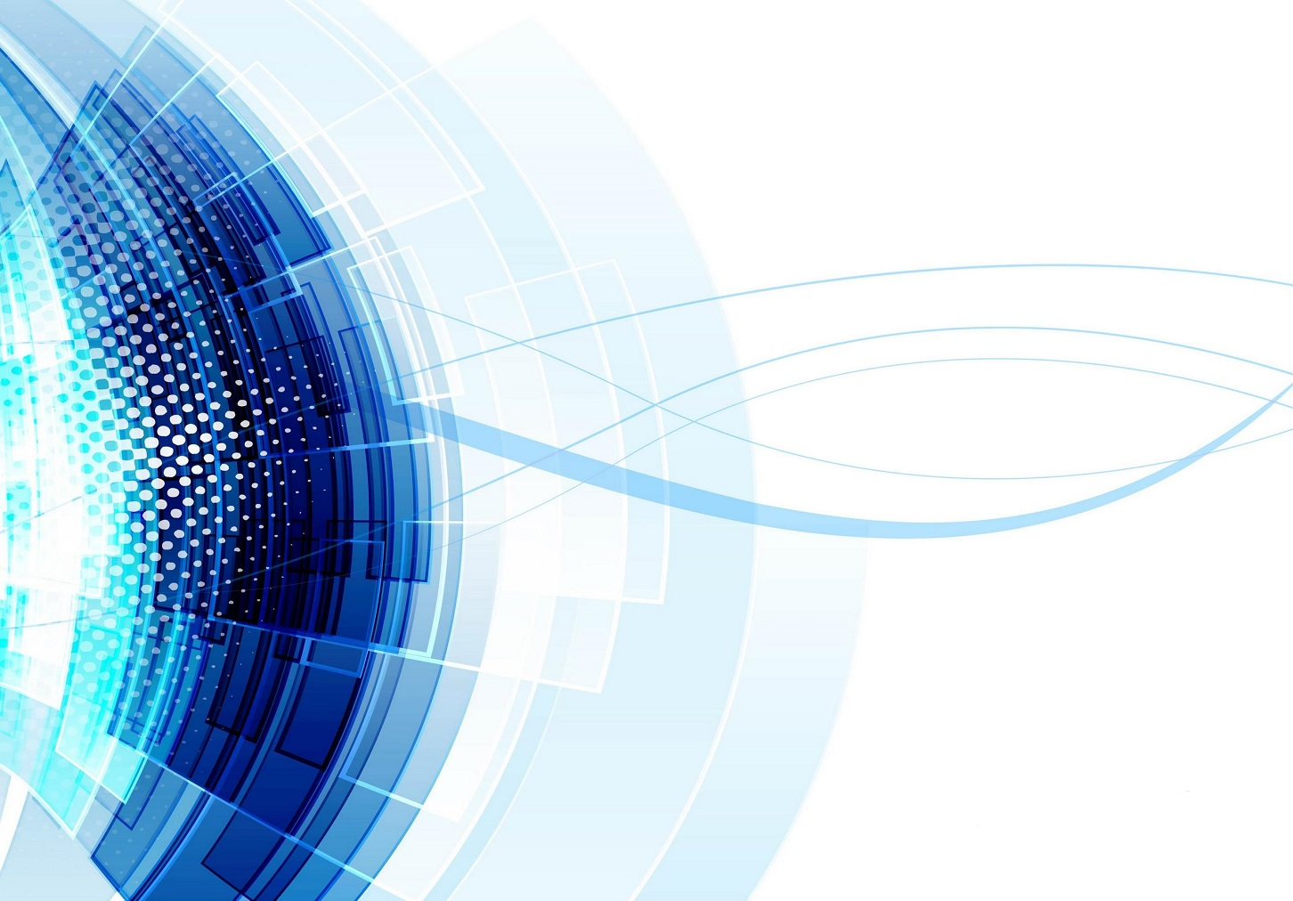 Abstract technology lines blue wave vector design